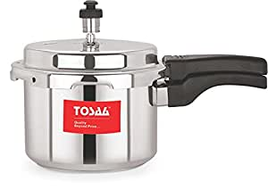 Tosaa Ultra Delux Aluminium Pressure Cooker, 3 Litres, Silver