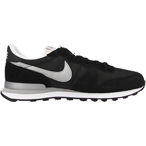 Nike Internationalist, Scarpe da Ginnastica Uomo black-metallic silver-white-flt silver