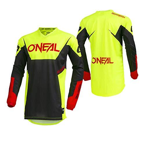 O\'Neal Element Racewear Motocross Jersey MX Enduro Cross Trikot Mountain Bike Motorrad, 001E, Farbe Neon Gelb, Größe XL