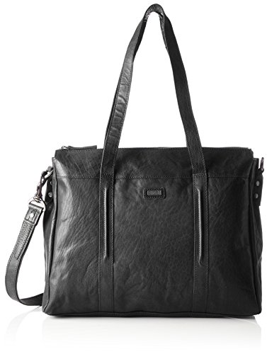 Spikes & Sparrow - Zip Bag, Borsette da polso Donna Nero (Black)