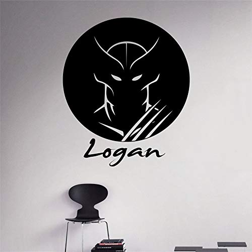 58 * 68 cm Verkauf Neymar Wandaufkleber Benutzerdefinierte Wolverine Name Wandtattoo Personalisierte Vinyl Aufkleber Comics Home Decor Abnehmbare art (Wolverine-aufkleber)