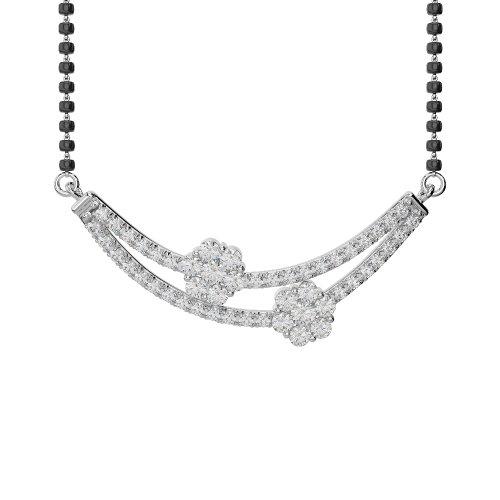 Or blanc/or jaune/Platinum-Collier Femme-diamant mangalsutra ims-1757-vsgh