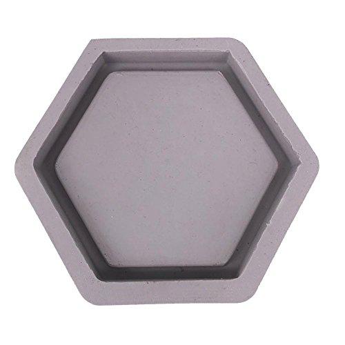 Rikey Hexagon Geformte Zement Blumentopf Formen Handgemachte Fertigkeit, Dekoration Beton Pflanzer Palette Silikonform (Farbe zufällig)