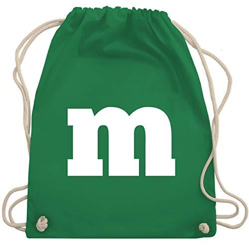 Kostüm M&m Grün Damen - Karneval & Fasching - Gruppen-Kostüm m Aufdruck - Unisize - Grün - WM110 - Turnbeutel & Gym Bag