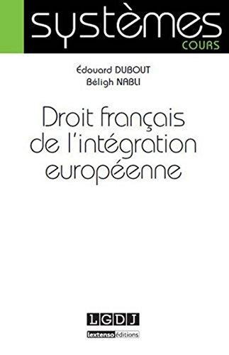 Droit franais de l'intgration europenne