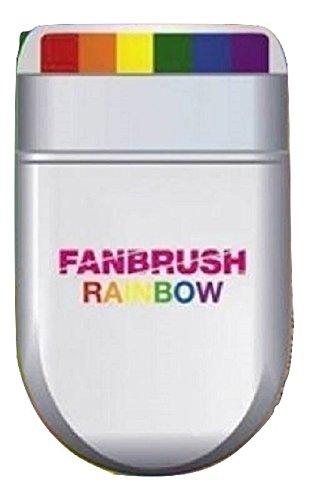 Herren Damen Regenbogen Multi Color Pride Kostüm Kostüm - Pick & Mix (Onesize Fits All, Regenbogen-Fan-Pinsel Make-up)
