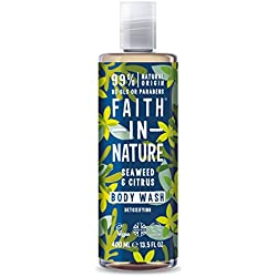 Faith in Nature - Gel Doccia 100% Naturale con Alghe Marine e Cedro - Per tutti I Tipi di Pelle - Senza Parabeni - Vegano