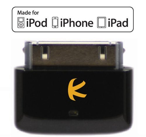 KOKKIA i10s_black (Luxuriöse Schwarz) Mini-Bluetooth-iPod-Transmitter für iPod / iPhone / iPad mit echter Apple-Authentifizierung. Ermöglicht die Fernsteuerung und lokale Lautstärkeregelung für iPod / iPhone / iPad. Unterstützt Plug-and-Play und funktioniert mit dem neuesten iPod Nano (6. Generation), iPod Touch (4. Generation), iPhone 4S und iPad 3. (Player Apple-ipod-bluetooth)