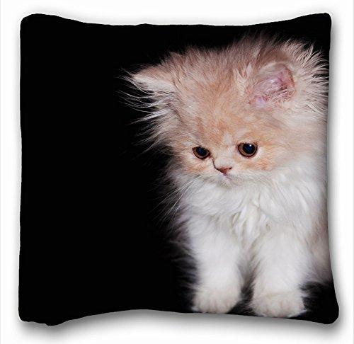 Dekorative Baumwollleinen, quadratisch Tiere Katze Furry S Kostüm Äste Bäume Blumen 45,7x 45,7cm Zwei Seite, Polyester-Mischgewebe, muster 2, (Katze In Der Katze Kostüme)