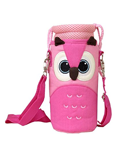 Preisvergleich Produktbild Insulated Baby Kids Bottle Leinentragetaschen Portable Feeding Bottle Bag Eule