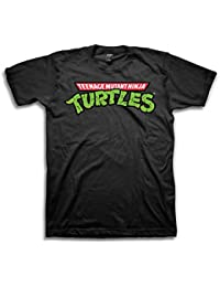 Teenage Mutant Ninja Turtles Logo Herren Schwarz T-Shirt