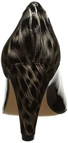 Atelier Mercadal Vintage Oasis, Escarpins femme, Noir (Charol Negro/Pantera Oro), 41 EU Noir (Charol Negro/Pantera Oro)