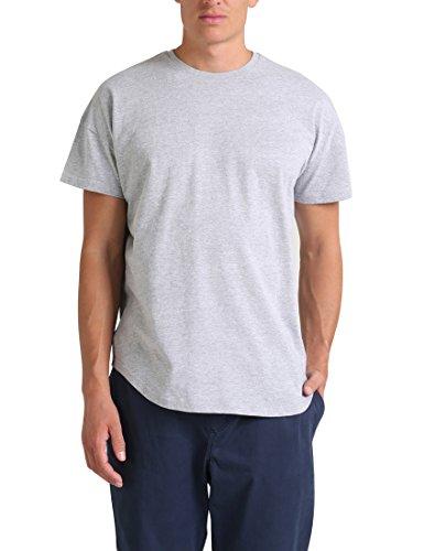 Shirt, Grau (Hellgrau Melange Hellgrau Melange), L ()
