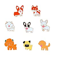 NashaFeiLi Animal Brooch, Creative Cartoon Small Dog Pin Badge for Women Girl Clothes Bags Backpacks (A Set)