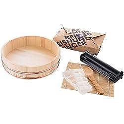 Reishunger Sushi Equipment Box XXL (con Easy Sushi Maker 3,5 cm) - Set di Accessori Completo per la Serata Perfetta a Base di Sushi