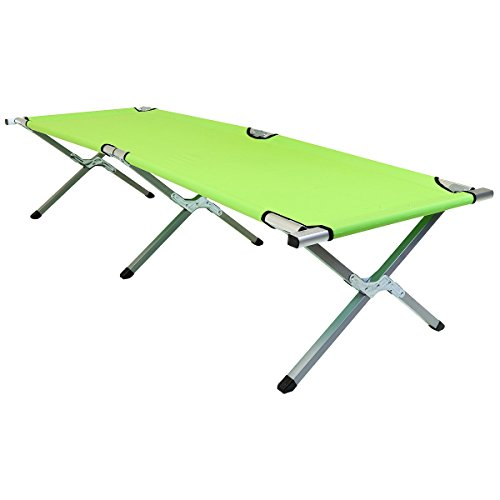 Charles Bentley Explorer Single Folding Camp Bed Heavy Duty amp; Lightweight - Green (Also Available In Blue)