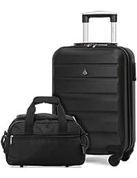 Aerolite ABS Hard Shell - Carretilla para equipaje de mano, con ruedas, 4 ruedas