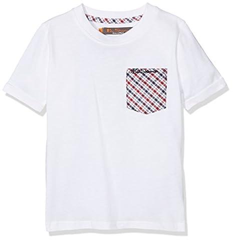 Ben Sherman House Check, T-Shirt Garçon, Blanc (Blanc Éclatant), 14-15 Ans