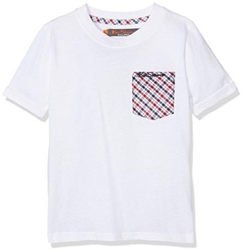 Ben Sherman Jungen T-Shirt House Check, Weiß (Bright White 002), 2-3 Jahre (Ben Neck Sherman Crew)