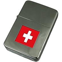 Accendino inciso Bandiera della Svizzera