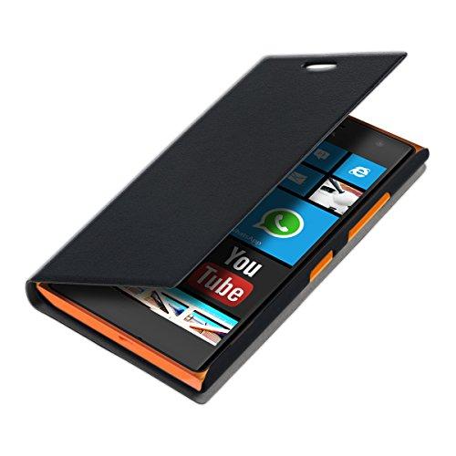 kwmobile Nokia Lumia 730/735 Hülle - Handyhülle für Nokia Lumia 730/735 - Handy Case Schutzhülle Klapphülle