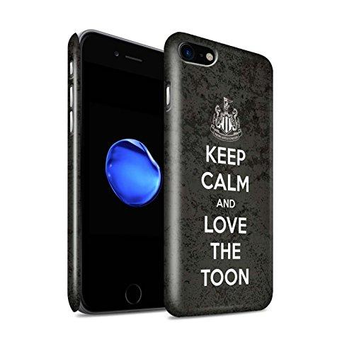 Officiel Newcastle United FC Coque / Clipser Brillant Etui pour Apple iPhone 7 / Soutien Design / NUFC Keep Calm Collection Amour Toon
