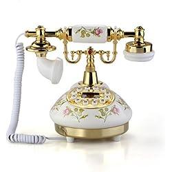 Teléfono Fijo Antiguo Vintage Retro MS-9100 Casa Mesa Oficina