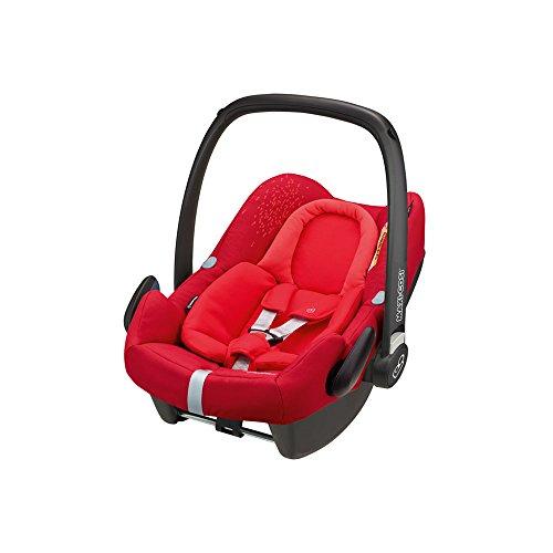 Maxi-Cosi Rock Babyschale, sicherer i-Size Kindersitz, Gruppe 0+ (0-13 kg), nutzbar ab der Geburt bis 12 Monate, vivid red