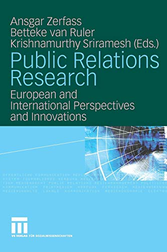 Public Relations Research: European and International Perspectives and Innovations