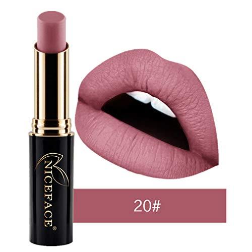 Tefamore Nouveau Lip Matte Liquide Rouge à lèvres imperméable Maquillage à lèvres Brillant 24 Teintes (20#)
