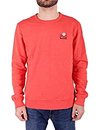 Scotch & Soda AMS Blauw Garment Dyed Sweat with Chest Embroidery, Sudadera para Hombre