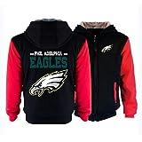 MFsports NFL Philadelphia Eagles Ziphood Herren Sweatjacke Kapuzenjacke Winter Hoodie Mit Kapuze Reißverschluss Kapuzenpullover Sweatshirt