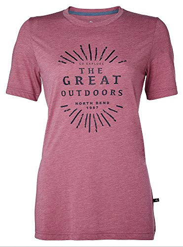 North Bend Vertical Tee W,pink ling - M