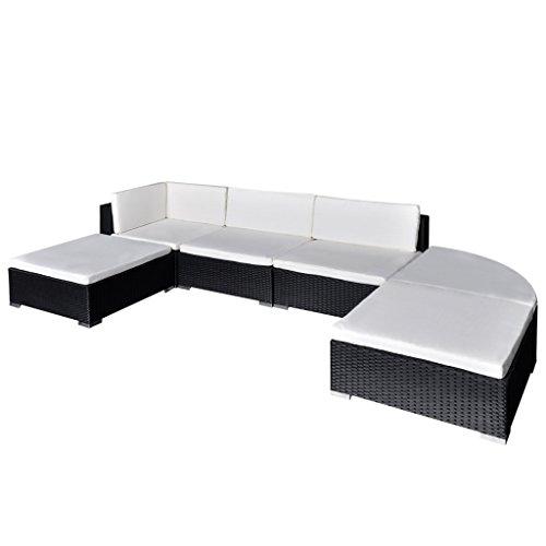 vidaXL 16tlg. Poly Rattan Gartenmöbel Set Sitzgruppe Sitzgarnitur Lounge Sofaset