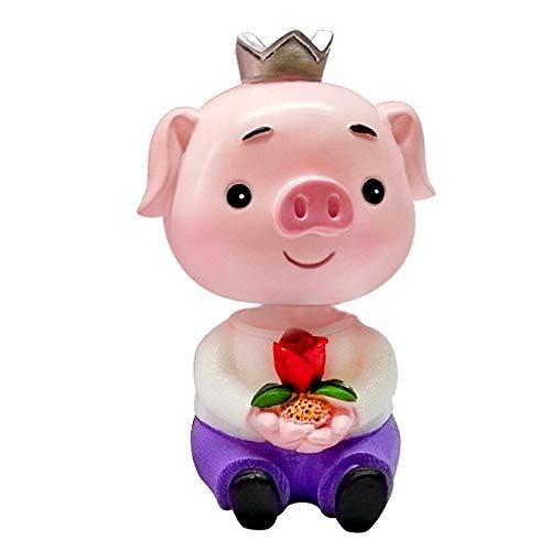 Kreative Auto Ornamente Auto Dekorationen schütteln Kopf Schwein Ornamente sieben-Nacht Valentinstag Geschenk Kuchen Dekorationen