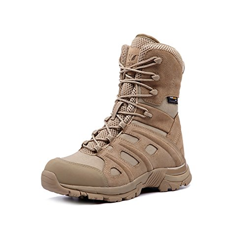 Suetar Hohe Leder Combat Boots Mode Outdoor Taktik Wanderschuhe Atmungsaktiv rutschfest und Wasserdicht Militär Kletterstiefel