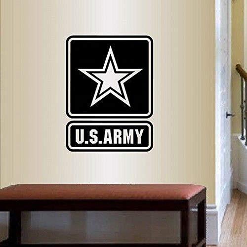 jiushizq Us Army Emblem Logo Entfernbare Wandaufkleber Für Wohnzimmer Tapete Vinyl Kunst Aufkleber Schlafzimmer Jungen Wohnkultur Dekoration Weiß 57X75 cm -