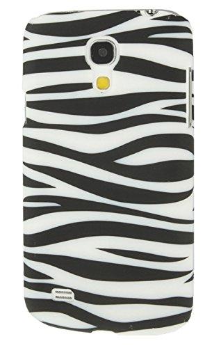[A4E] Handyhülle passend für Samsung Galaxy S4 mini (i9190) Hülle Schutzhülle aus TPU Silikon mit Traumfänger / Wasserfarben Effekt Motiv (weiß, pink, blau, gelb) Zebra