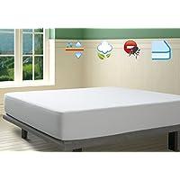 Savel, Protector de colchón Antiácaros Punto 100% Algodón Impermeable y Transpirable, 180x190/200cm (para camas de 180)