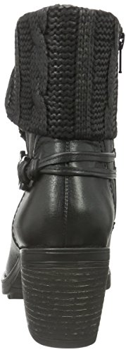 Be Natural Damen 25309 Biker Boots Schwarz (Black 001)