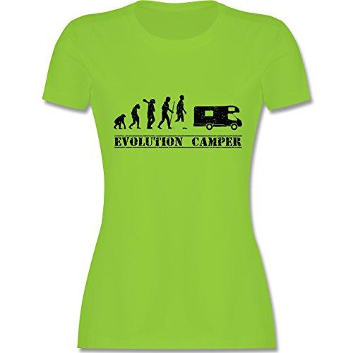 Evolution - Evolution Camper - Damen T-Shirt Rundhals Hellgrün