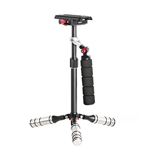 Cheapest Price for Movo VS7 Handheld Carbon Fiber Adjustable Video Stabilizer System with Quick-Release Plate for DSLR Cameras & Camcorders up to 6.6 LB (3kg) Discount