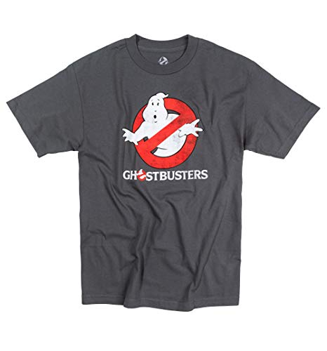 Men's Charcoal Distressed Logo Glow in The Dark T Shirt
