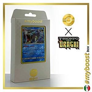 Gyarados 20/70 Holo Reverse - #myboost X Sole E Luna 7.5 Trionfo dei Draghi - Box de 10 Cartas Pokémon Italiano