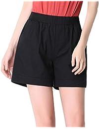 2029ac322e YiLianDa Mujeres De Tallas Grandes Suelto Pantalones Cortos De Cintura  Elástica