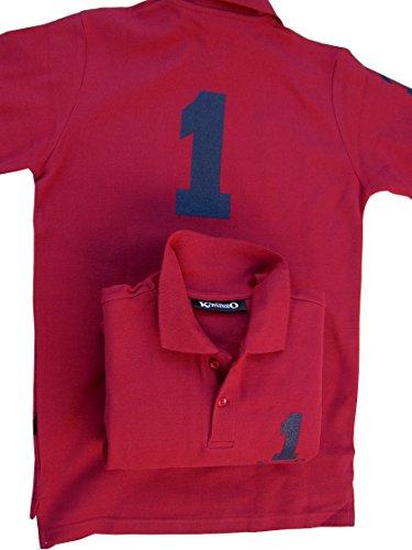 KLITSCHKO Nr.1 Polohemd T-Shirt Poloshirt für Junior Herren Gr XS 40-42 in 2 Farben Rot