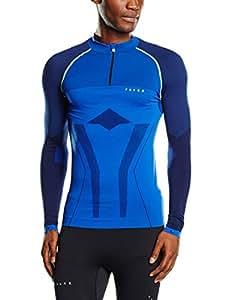 FALKE shorty de sport spécial pour homme rU athletic maillot 1ère couche à manches longues et demi-zip pour homme tendance XXL Bleu - bleu cobalt