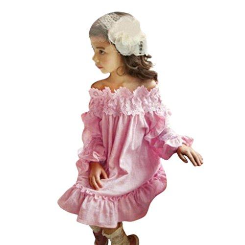 Kinderbekleidung,Honestyi Kleinkind Kinder Baby Mädchen Niedlich Spitze Spitzenstickerei -