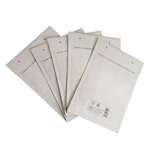 300 K/10 Weiss Luftpolsterversandtaschen Luftpolstertaschen Umschläge (300 Count Tasche)