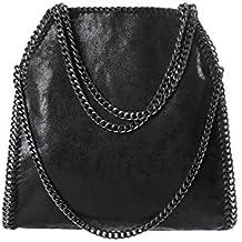 cdb0ddcdb02e0 Angleliu Damen PU lässigen Kette Handtasche Modisch Schultertaschen Glitzer  Beuteltasche
